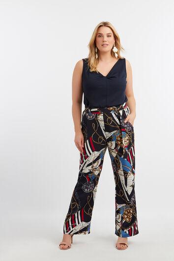 Pantalones anchos con estampado