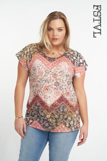 Camiseta con estampado colorido