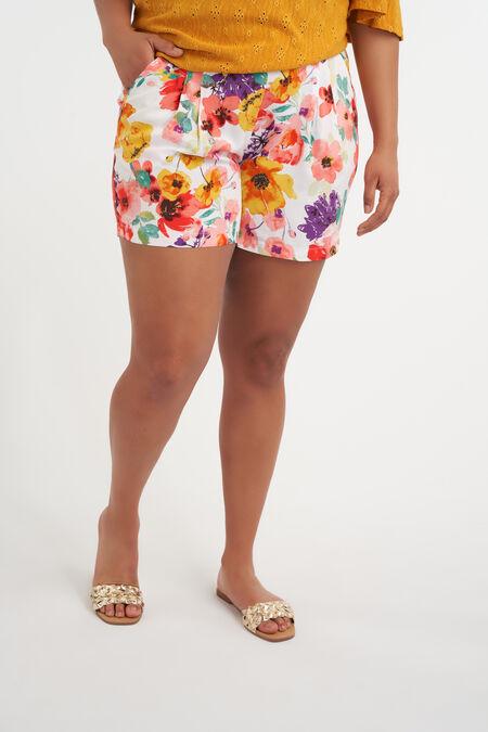 Short con estampado floral