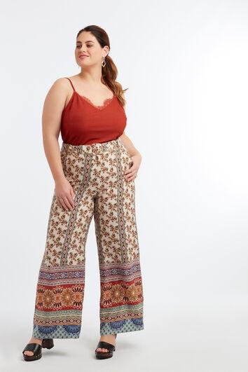 Pantalón estampado ancho