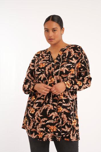 Blusa túnica con estampado floral