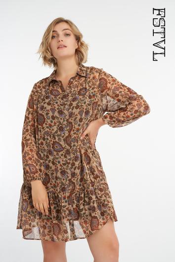 Blusa túnica con estampado paisley