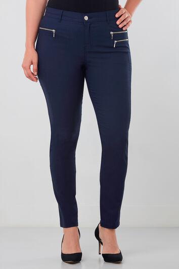 Pantalones con cremalleras
