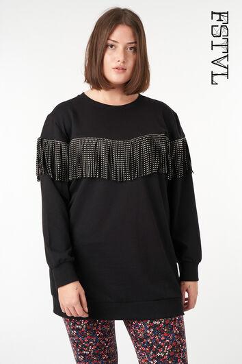 Suéter con flecos