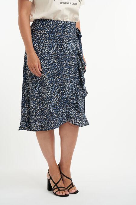 Falda cruzada con estampado