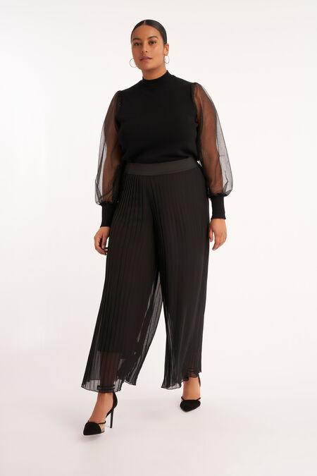 Pantalones plisados anchos