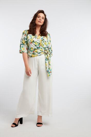 Pantalones de lino de pernera ancha
