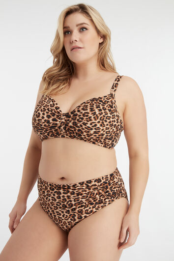 MS Mode top de bikini estampado
