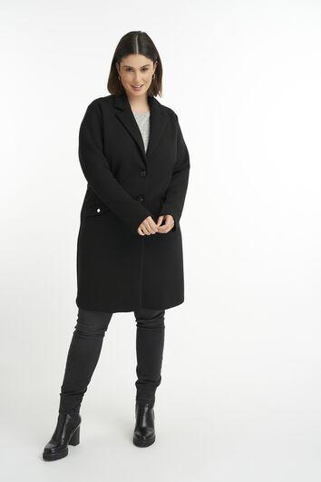 Abrigo largo de jersey
