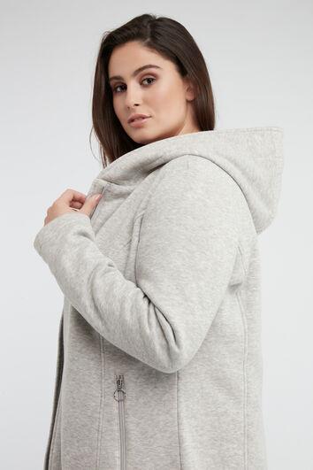 Chaqueta de tejido jersey con capucha