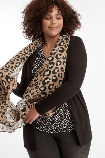 Chal de leopardo ligero