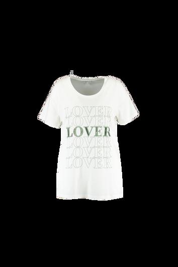 Camiseta con mensaje y cuentas