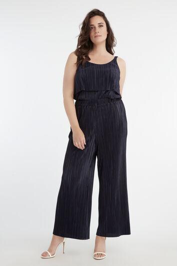 Pantalones plisados elásticos