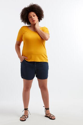 Pantalones cortos de viscosa con estampado
