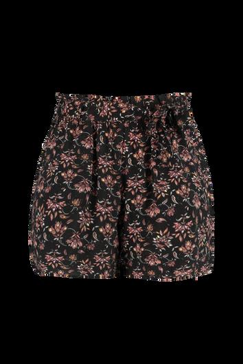 Shorts de viscosa con cinto
