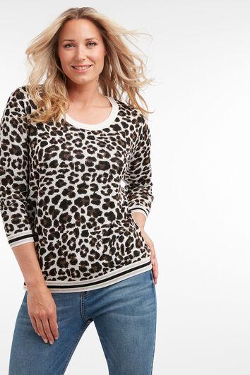 Jersey de estampado de leopardo