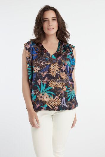 Una blusa con un estampado floral