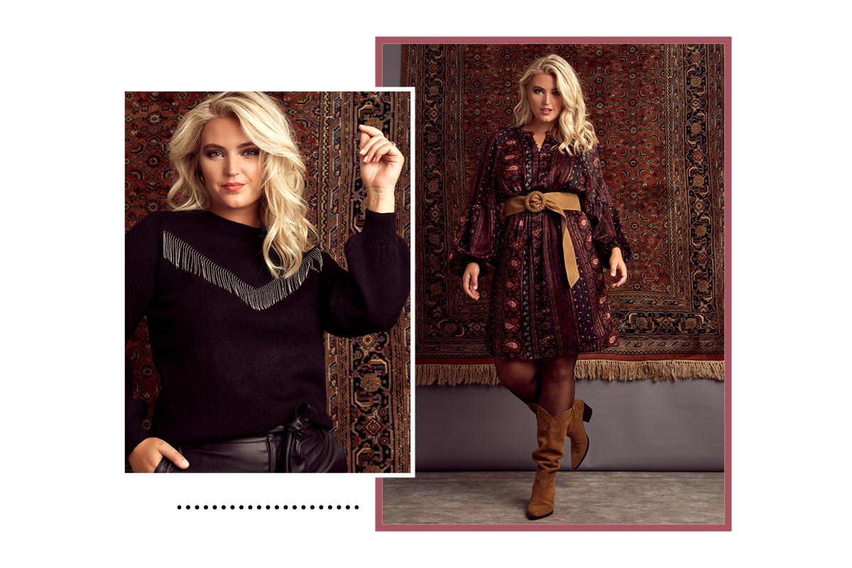 Model in FSTVL kleding