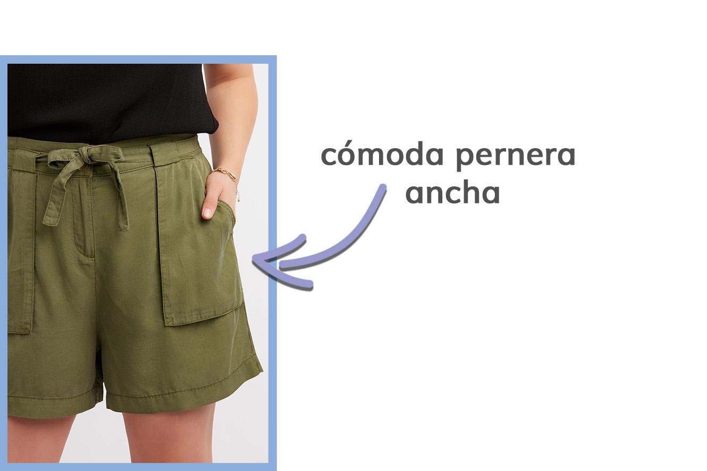 detalle de los pantalones cortos